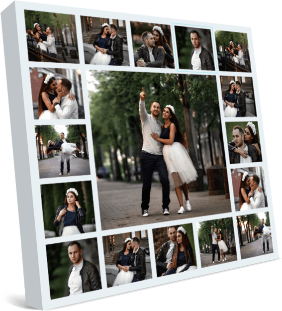 Love story collage