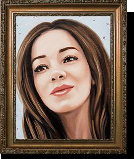 Изящный портрет для девушки