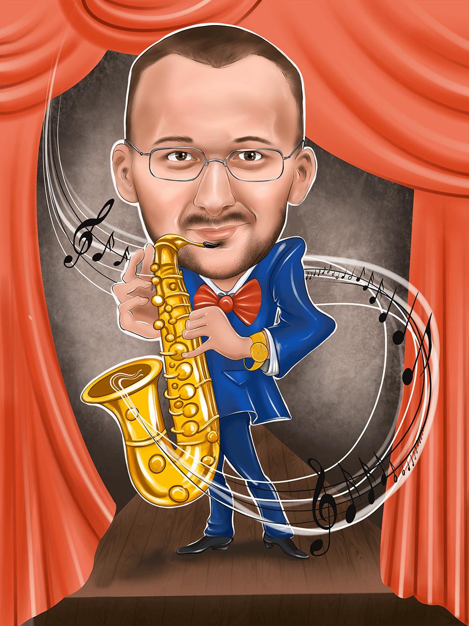 Шарж - музыкант