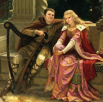 Дама в платье XVIII века